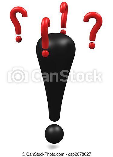 Exclamation mark wondering - csp2078027
