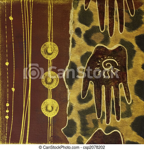 handmade artwork africa - csp2078202