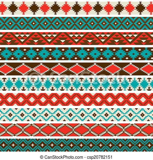 Stock Illustrations of Native American Border Patterns - A ...