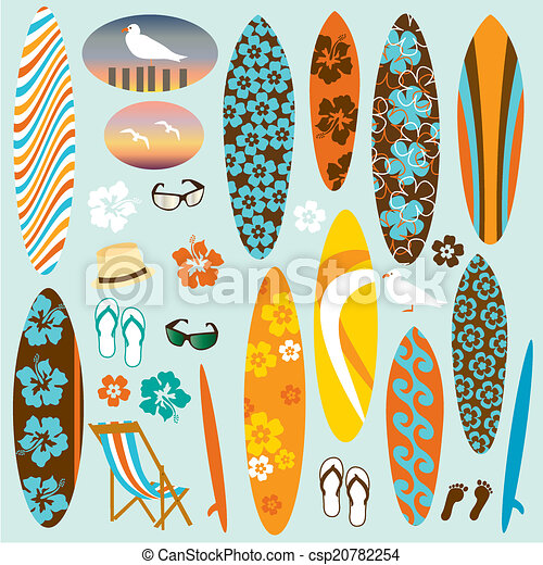 illustrations de planche surf clipart a collection de planches surf csp20782254. Black Bedroom Furniture Sets. Home Design Ideas