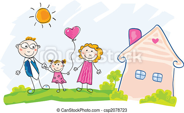 Family is moving into new house - csp2078723