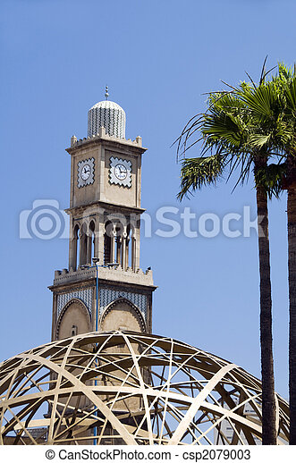 mosque casablanca with modern architecture - csp2079003