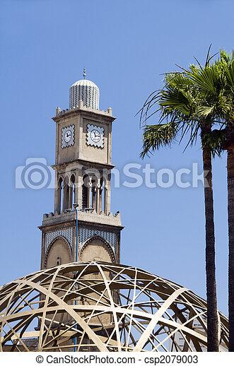 mosque casablanca with modern architecture - csp2079003