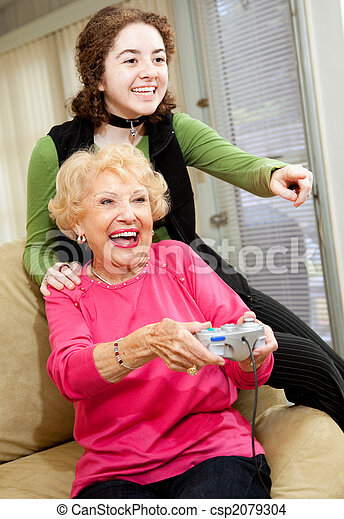 Grandma Loves Video Games - csp2079304