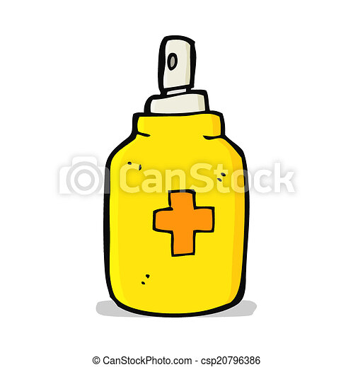 cartoon antiseptic spray - csp20796386