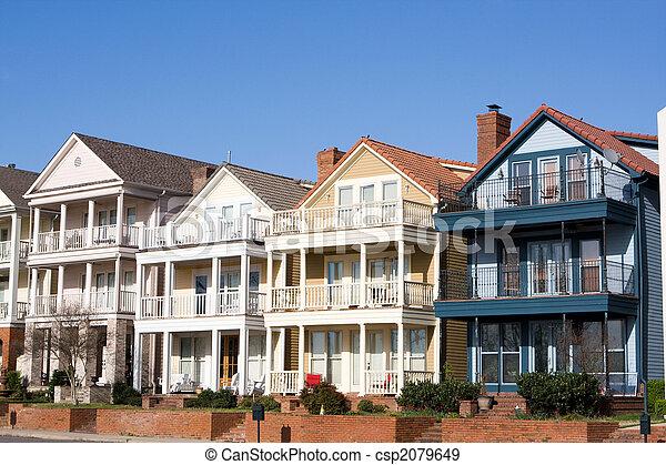 High End Townhouses, Mud Island, Memphis - csp2079649