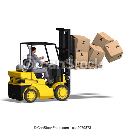 Drawings Of Forklift Rendering Of An Accident With A