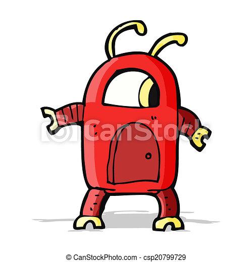 alien robot cartoon