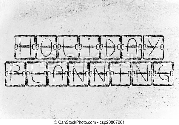 Stock Illustration Of Book Your Holiday Plan A Trip