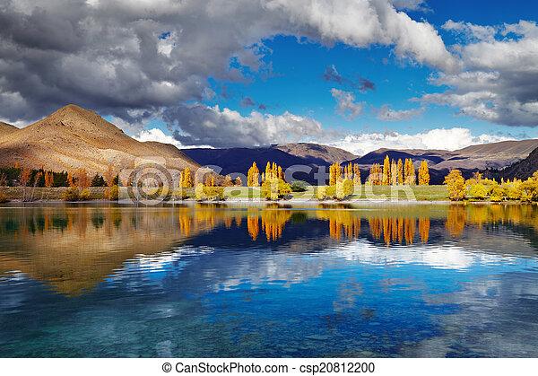 Lake Benmore, New Zealand - csp20812200