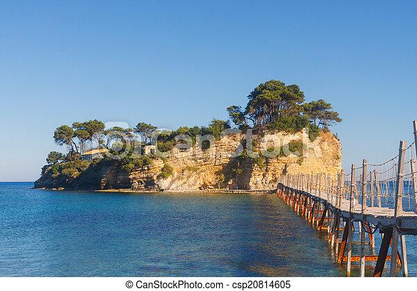 Agios Sostis, small island in Greece, Zakynthos - csp20814605