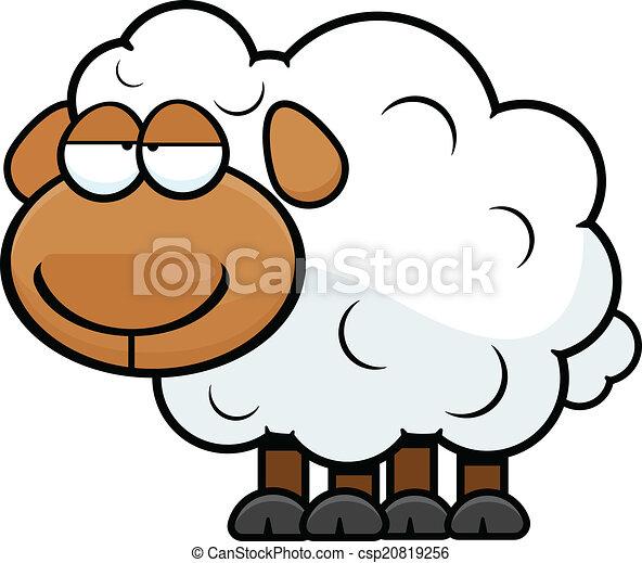 Vecteur clipart de mouton dessin anim fatigu cartoon - Mouton dessin anime ...