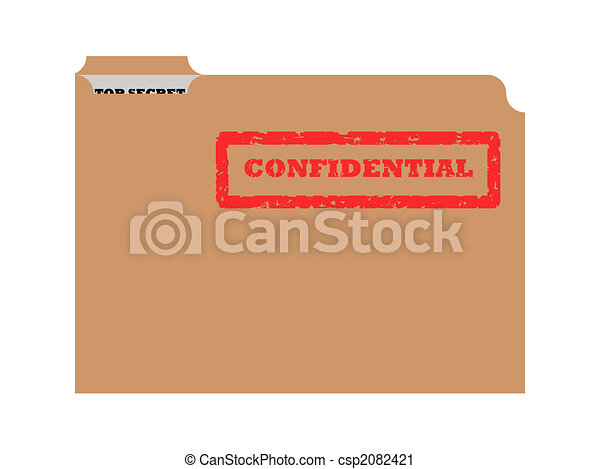 Opened confidential envelope - csp2082421