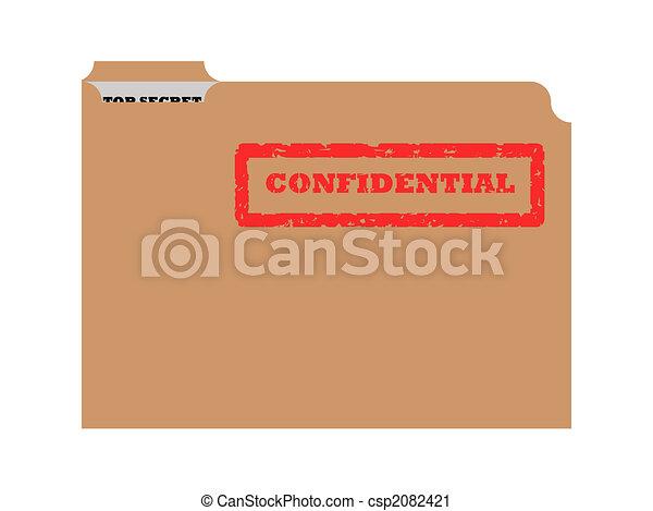 Opened confidential envelope - csp2082421
