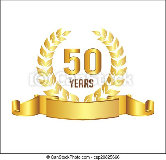 Clip Art 50 Years Anniversary