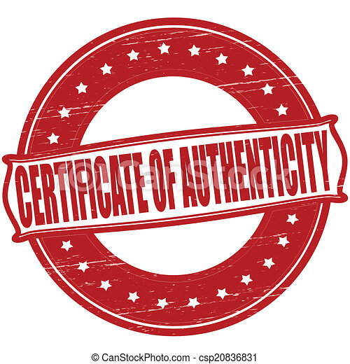 EPS Vectors of Certificate of authenticity - Stamp with text ...