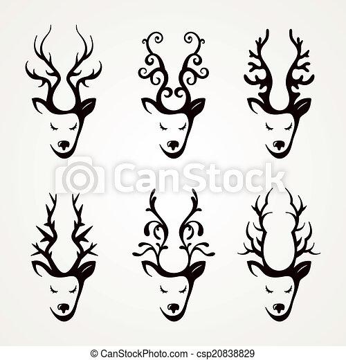 Giraffe Black White 18227792 also 1027 further Venado Ciervo Cervato Gama Siluetas 15799051 as well Tribal Tiger Tattoo 1f further Dream Catcher Rose Flower Detailed Vector 484752769. on deer head logo