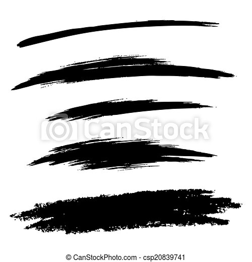 Grunge Line Drawings Drawn Grunge Brush Lines