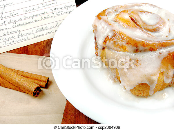 Cinnamon Roll with Recipe - csp2084909
