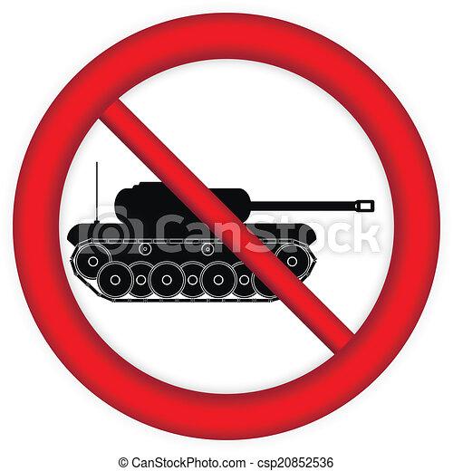 No war sign - csp20852536