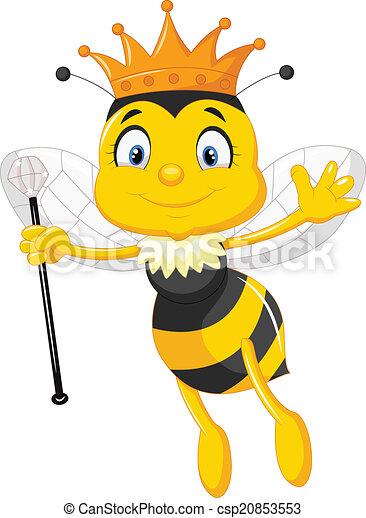 Queen bee cartoon - Ve...