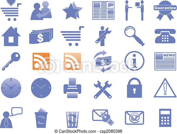 Icons for Internet and Website. - csp2085398