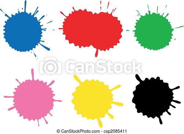 Colour blots. A set. - csp2085411