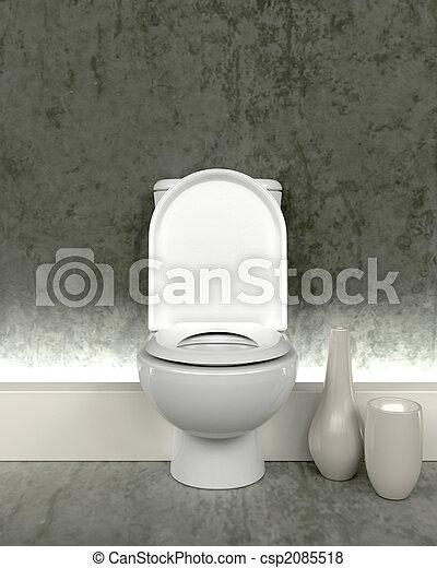 images de toilette contemporain render 3d 3d render de csp2085518 recherchez des. Black Bedroom Furniture Sets. Home Design Ideas