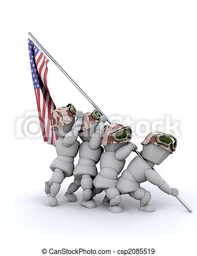 us marine corps war memorial - csp2085519