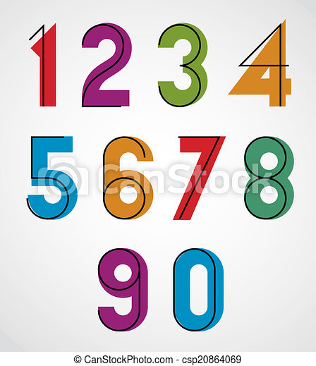 Numbers With Black Thin
