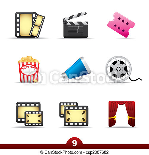 Icon series - movie and film - csp2087682