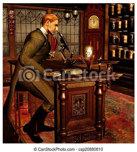 Victorian Era Scientist - csp20880810