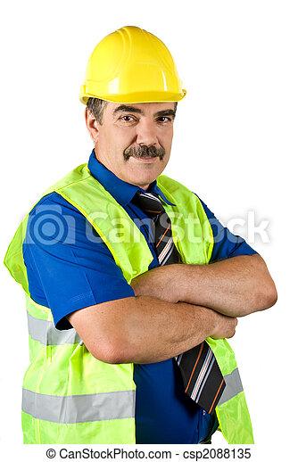 Mature engineer construction - csp2088135