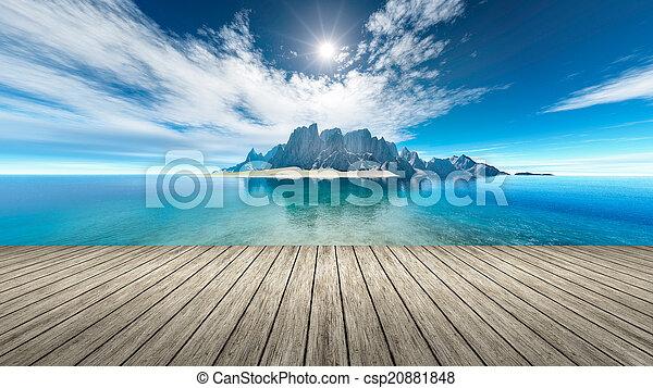 fantasia, isola - csp20881848