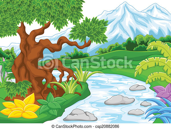 River and Free Clip Art Illustrations
