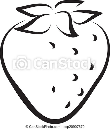 Vectors Illustration of strawberry - Artistic outline ...
