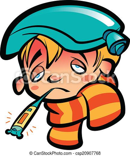 Nin Sin Logo Fiebre Caricatura Clip...