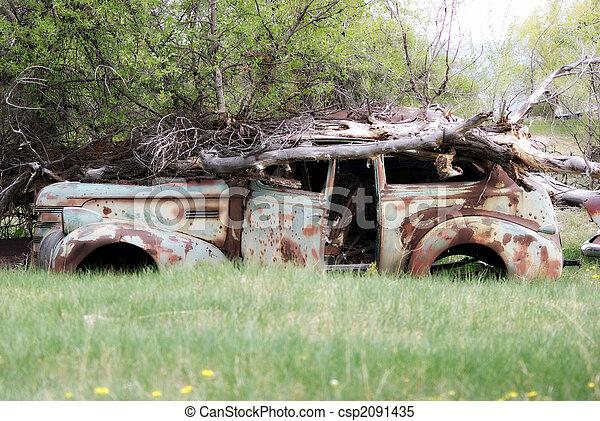 Abandoned Car - csp2091435