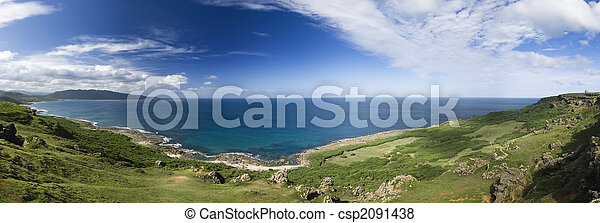 panoramic coastline - csp2091438