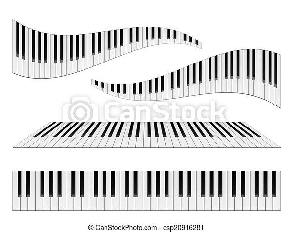鋼琴, 鍵盤 - csp20916281