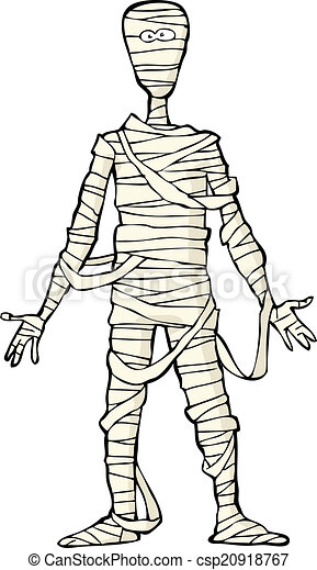 Clip Art Vector of Ancient Egyptian mummy on white ...