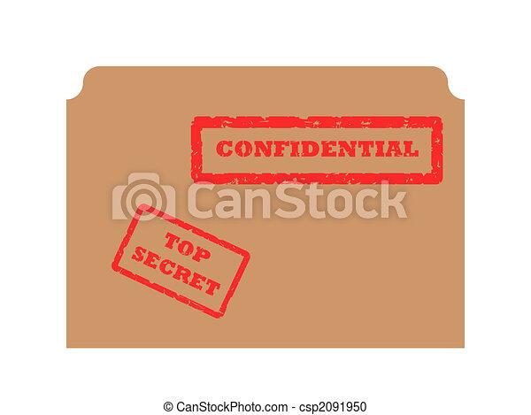 Secret and Confidential stamp - csp2091950