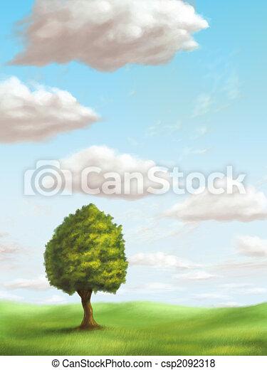 Relaxing landscape - csp2092318