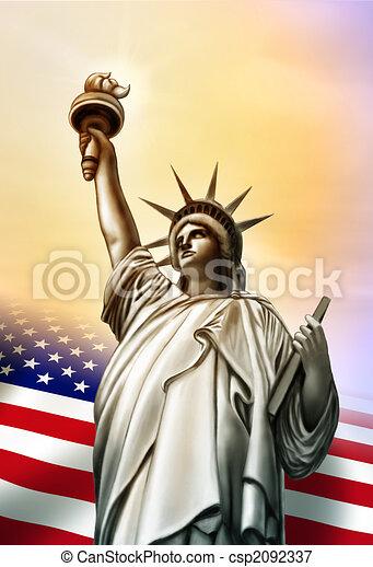 Liberty statue - csp2092337
