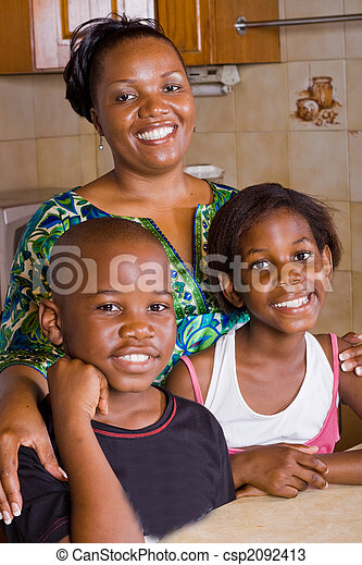 mom with children - csp2092413