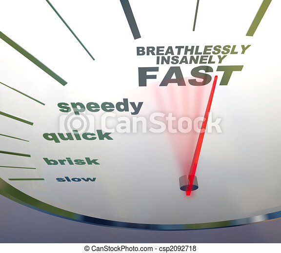 speedometer - slow to insanely fast - csp2092718