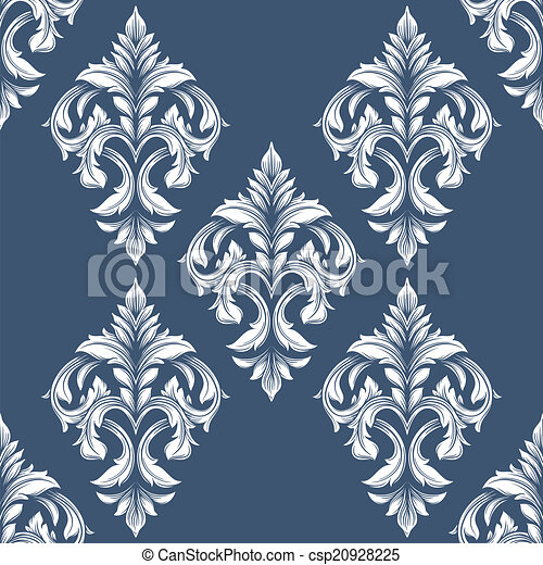 Vintage  victorian seamless pattern. Can be used for banner, invitation, wedding card,  scrapbooking and others. Royal vector design element. - csp20928225