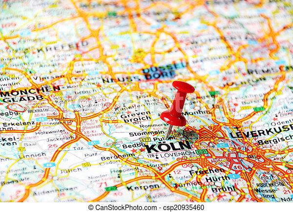 Zbiory Obrazów Kolonia, mapa, Niemcy - Zamknięcie, Do góry