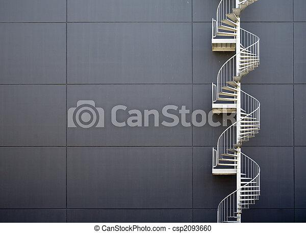 Escaleras, emergencia - csp2093660