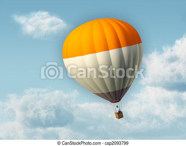 Hot air baloon - csp2093799